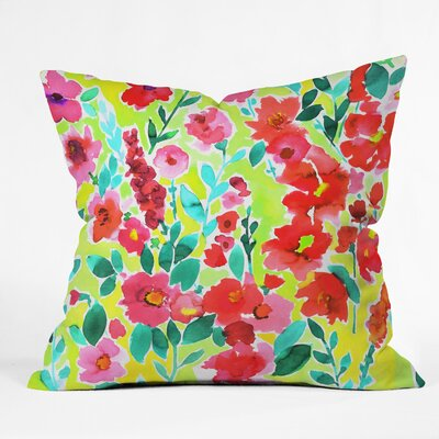 Amy Sia Isla Floral Throw Pillow Size: 18 x 18