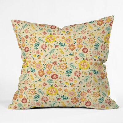 Pimlada Phuapradit Sunny Daisies Throw Pillow Size: 18