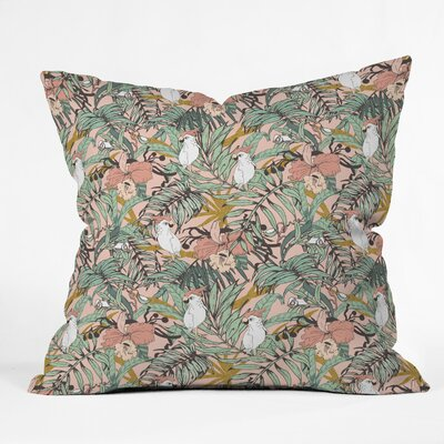 Marta Barragan Camarasa Drawing Exotic Birds Throw Pillow Size: 20 x 20