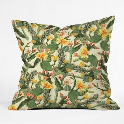 Ali Gulec Cactus Garden Throw Pillow Size: 18 x 18