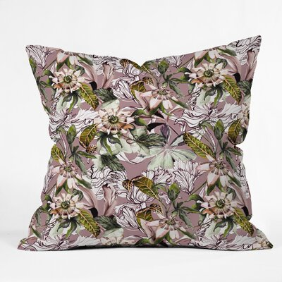 Marta Barragan Camarasa Blooming Wild Throw Pillow Size: 18 x 18