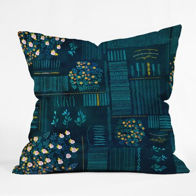 Iveta Abolina Smokey Fields Throw Pillow Size: 18
