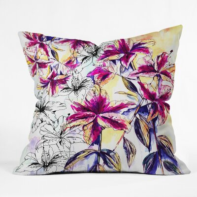 Holly Sharpe Rainbow Lily Throw Pillow Size: 20 x 20