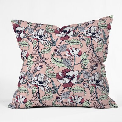 Marta Barragan Camarasa Autumnal Poppies Throw Pillow Size: 18 x 18