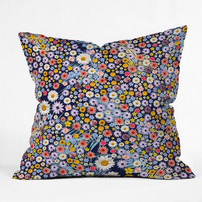 Iveta Abolina Flower Power Throw Pillow Size: 16 x 16