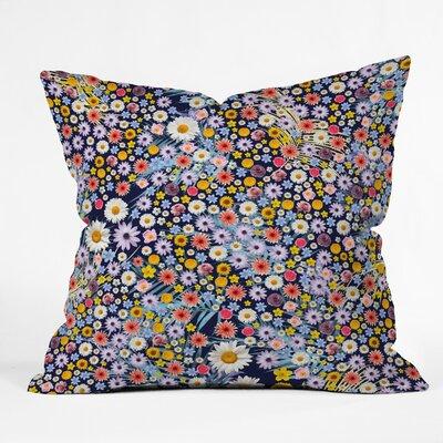Iveta Abolina Flower Power Throw Pillow Size: 26 x 26