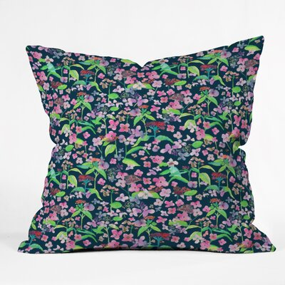 Rachelle Roberts Hydrangea Flower Print Throw Pillow Size: 16 x 16