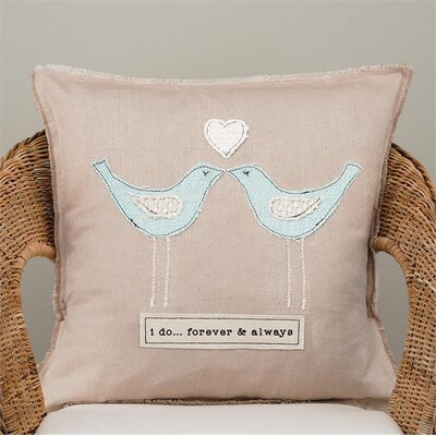 Gullickson I Do... Forever and Always Cotton Pillow Cover