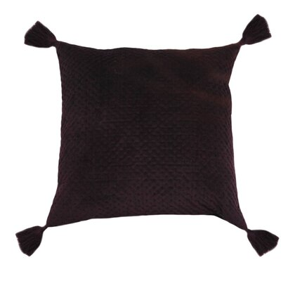 Mori Quilted Velvet Decorative Pillow Cover Color: Purple
