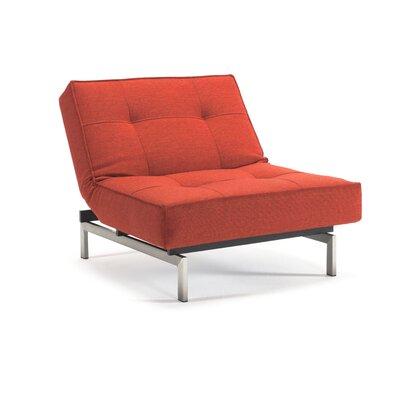 Splitback Convertible Chair Upholstery: Mixed Dance Burned Orange