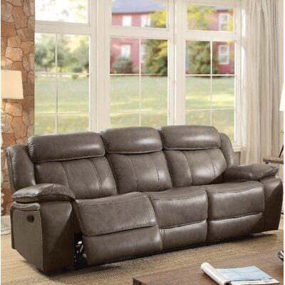 Farrior Leather Reclining Sofa