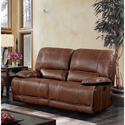 Dupree Leather Reclining Sofa Recliner Mechanism: Manual
