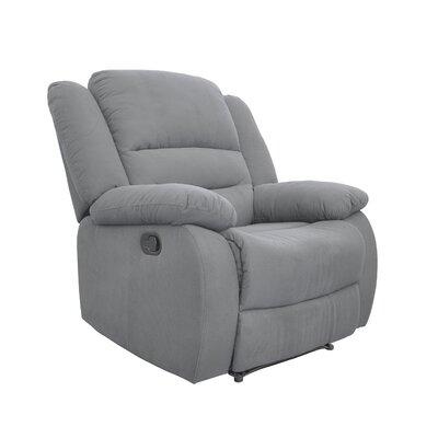 Esteban Manual Recliner Upholstery: Blue Gray