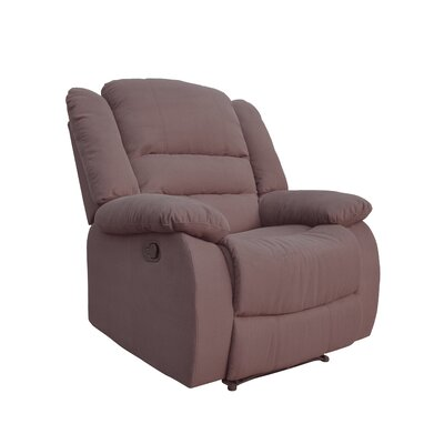 Esteban Manual Recliner Upholstery: Brown