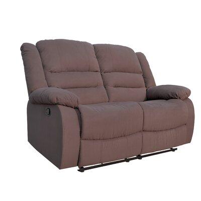 Dedmond Reclining Loveseat Upholstery: Brown