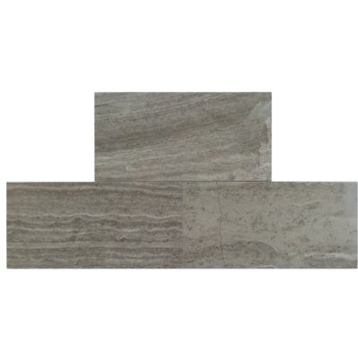 3 x 6 Natural Stone Field Tile in Wood Ash