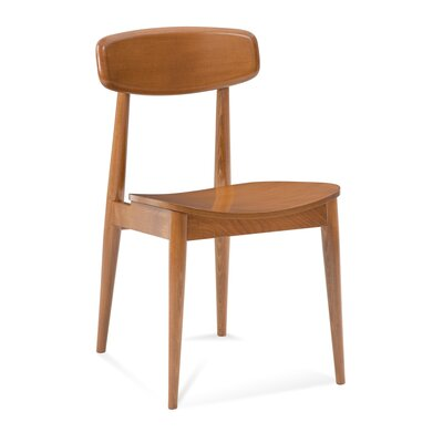 Czapla Solid Wood Dining Chair Color: Shadow
