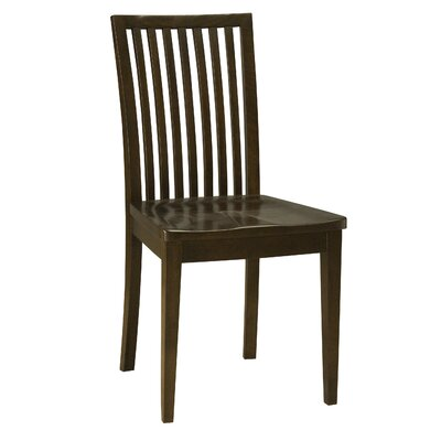 Bensley Model Solid Wood Dining Chair Color: Shadow