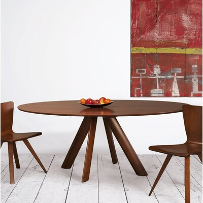 Cullison Dining Table Base Color: Shadow, Size: 60 W x 60 L