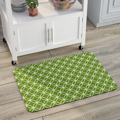 Swofford Circle Bloom Kitchen Mat Mat Size: 22 x 31, Color: Lime