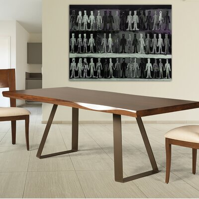 Mascorro Sculpted Edge Dining Table Base Color: Shadow, Size: 42 W x 80 L
