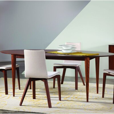 Couey Ellipse Dining Table Base Color: Shadow, Size: 42 W x 80 L