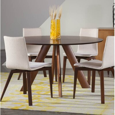 Cullison Ellipse Dining Table Base Color: Shadow, Size: 36 W x 70 L