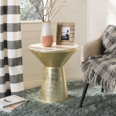 Houchens Mosaic Top Round End Table