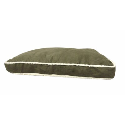 Eco Friendly Microplush Gusset Dog Pillow with Sherpa Edge Color: Dark Green