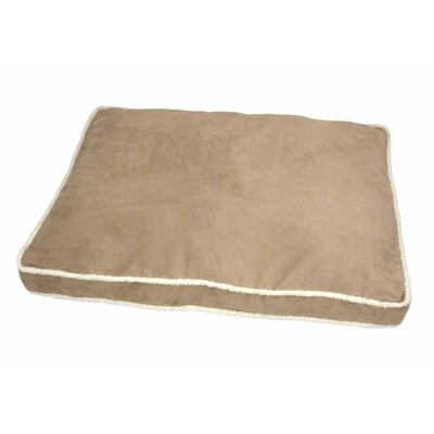 Eco Friendly Microplush Gusset Dog Pillow with Sherpa Edge Color: Brown