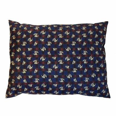 Eco Friendly Extra Plush Soft Dog Pillow Color: Blue
