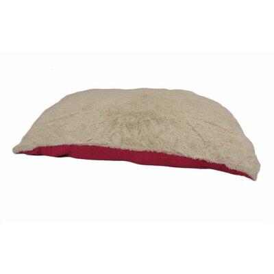 Eco Friendly Extra Plush Soft Dog Pillow Color: Red