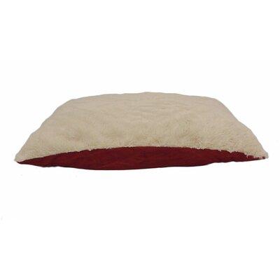Eco Friendly Extra Plush Soft Dog Pillow Color: Dark Red