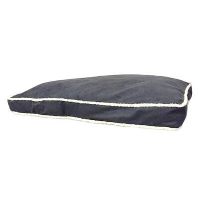 Eco Friendly Extra Plush Soft Dog Pillow Color: Dark Gray, Size: Small (36 W x 27 D x 4 H)