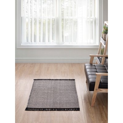 Feemster Solid Scatter Gray Area Rug Rug Size: Rectangle 20 x 30