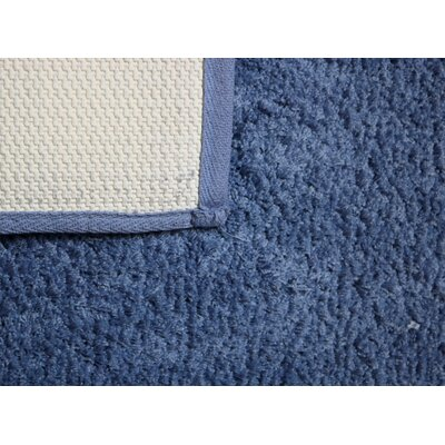 Engelman Luxury Latex Micro Fiber Bath Rug Size: 17 W x 24 L, Color: Blue