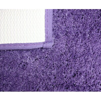 Engelman Luxury Latex Micro Fiber Bath Rug Size: 24 W x 40 L, Color: Purple