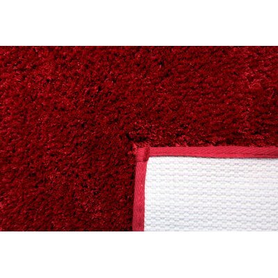 Engelman Luxury Latex Micro Fiber Bath Rug Size: 24 W x 40 L, Color: Red