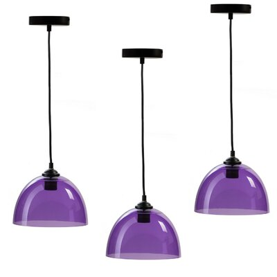 Crichton 1-Light Inverted Pendant Shade Color: Purple