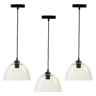 Crichton 1-Light Inverted Pendant Shade Color: Clear