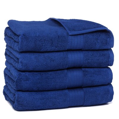 Kring Zero Twist Bath Towel Color: Navy