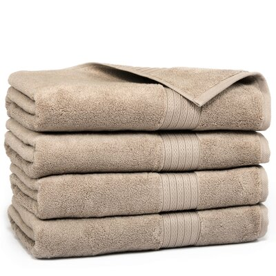 Kring Zero Twist Bath Towel Color: Mushroom