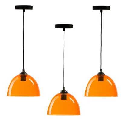 Crichton 1-Light Inverted Pendant Shade Color: Orange