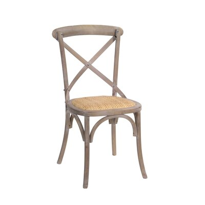 Tunley Wood Upholstered Dining Chair Frame color: Brown, Upholstery Color: Yellow