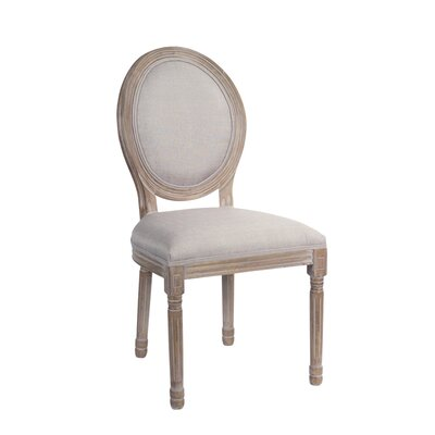 Tuohy Wood Upholstered Dining Chair Frame color: Brown, Upholstery Color: Tan