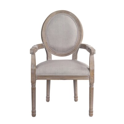Auten Upholstered Dining Chair Frame color: Brown, Upholstery Color: Gray