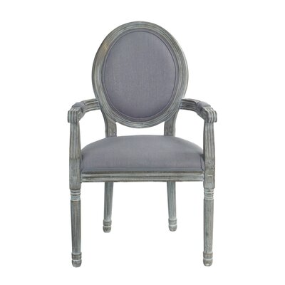 Auten Upholstered Dining Chair Frame color: Black, Upholstery Color: Blue