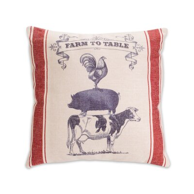 Goodge Farm to Table Polyester Throw Pillow