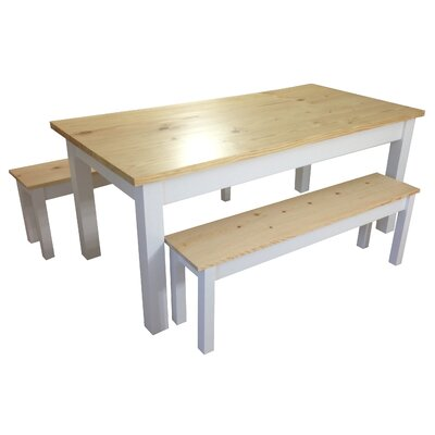 Jarrard Farmhouse Dining Table Size: 30 H x 34 W x 54 L