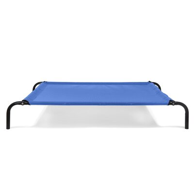 Elevated Reinforced Dog Cot Size: Small (25.25 W x 35.5 D x 6 H), Color: Deep Blue